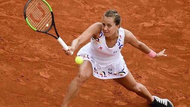 Barbora Strýcová v singlu na pařížské antuce dohrála.