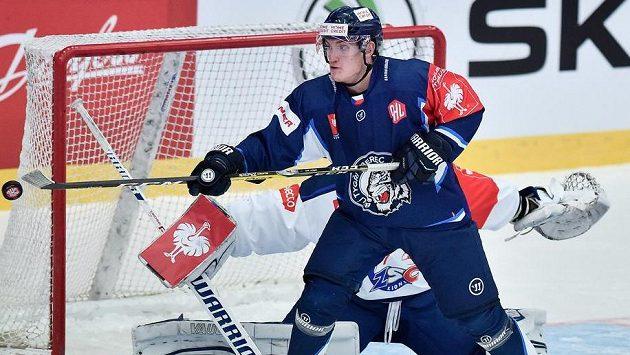 Jan Ordoš z Liberce při prvním utkání s Curychem.