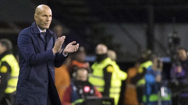 Trenér fotbalistů Realu Madrid Zinédine Zidane během zápasu Španělského poháru s Celtou Vigo.