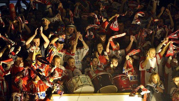 Fanoušci hokejistů Pardubic.