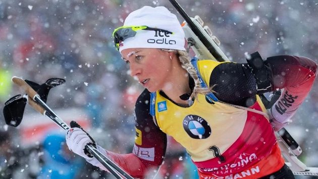 Norská biatlonová hvězda Tiril Eckhoffová.
