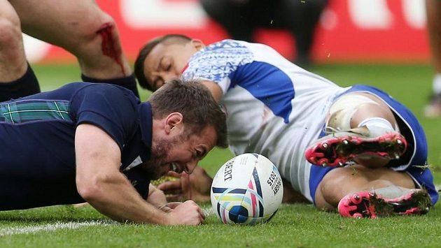 Skotský ragbista Greig Laidlaw v zápase proti Samoe.