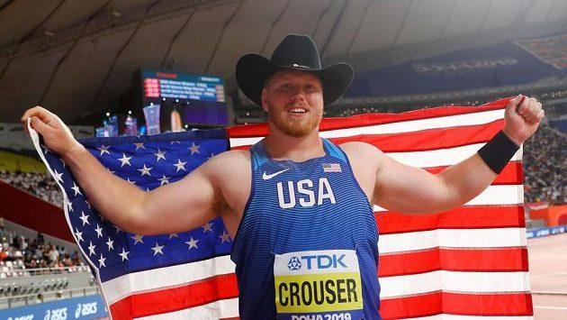 Američan Ryan Crouser na snímku z roku 2019 z MS v Kataru.