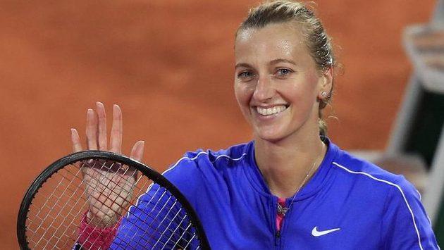 Petra Kvitová po vítězném zápase třetího kola French Open