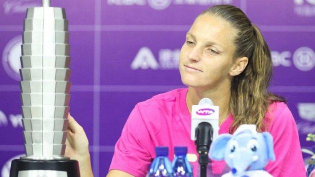 Karolína Plíšková na tiskové konferenci zářila spokojeností