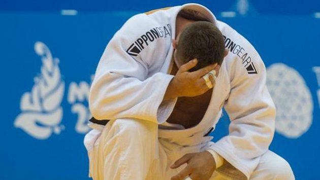 Judista Lukáš Krpálek byl po zápase hodně zklamaný.