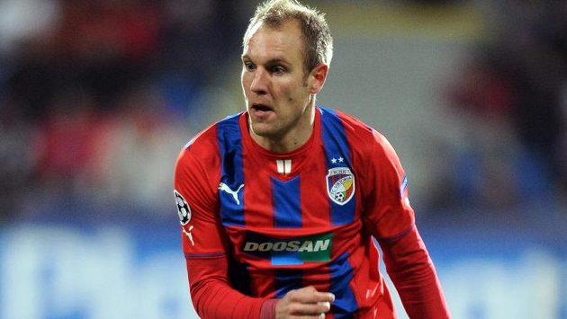 Plzeňský záložník Daniel Kolář během utkání Ligy mistrů s CSKA Moskva.