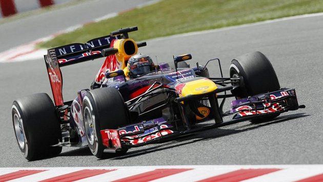 Sebastian Vettel vyhrál trénink na VC Španělska v Barceloně.