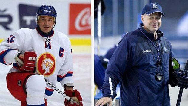 František Kaberle ml. (vlevo) a Jiří Kopecký budou asistenty trenéra Kladna Pavla Patery.