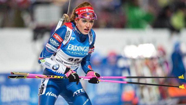 Česká biatlonistka Gabriela Koukalová.
