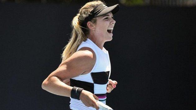 Britská tenistka Katie Boulterová na Australian Open slavila předčasně. Nakonec ale zápas stejně vyhrála.