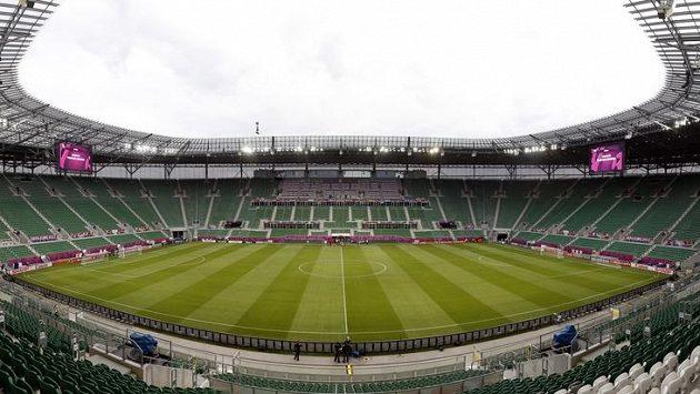 Vratislavský stadión, kde čestí fotbalisté sehráli všechny své zápasy ve skupině evropského šampionátu.