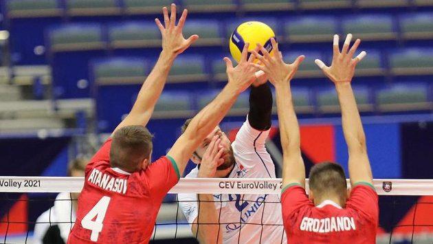 (Zleva) Martin Atanasov z Bulharska, Jan Hadrava z ČR a Aleks Grozdanov z Bulharska.