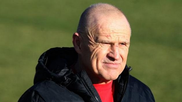 Jaroslav Hřebík během tréninku na úvod zimní přípravy Sparty.