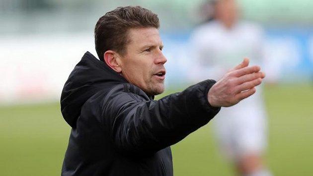 Trenér Karviné Petr Mašlej.