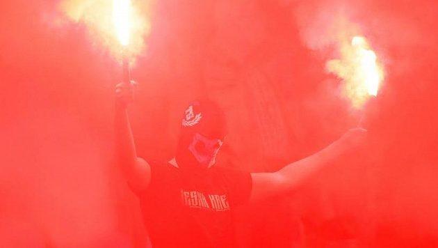 Fanoušci Slavie se postarali o pořádný rozruch