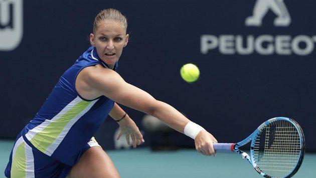 Karolína Plíšková ve finále turnaje v Miami.