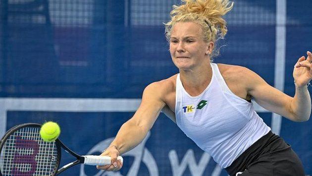 Kateřina Siniaková v zápase prvního kola