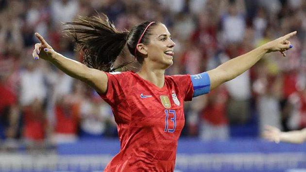 Americká fotbalová hvězda Alex Morganová.