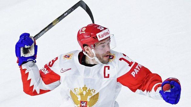 Pavel Dacjuk během loňského mistrovství světa v Dánsku, na němž vedl Rusko jako kapitán.