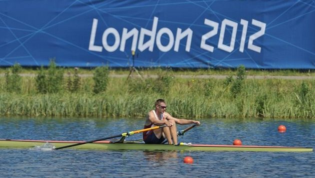 Skifař Ondřej Synek v dějišti olympijských her v Londýně