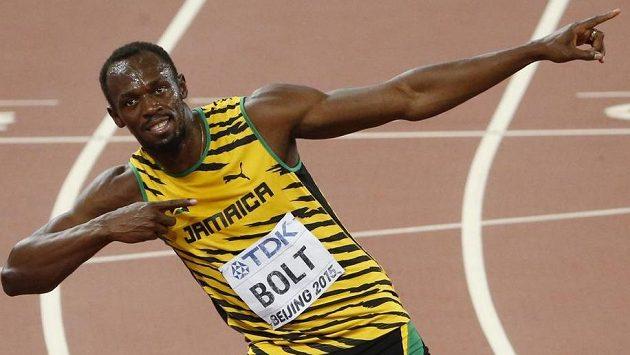 Tradiční gesto by Usain Bolt měl za rok opět předvést i Ostravě.
