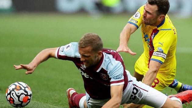 Tomáš Souček v zápase proti Crystal Palace