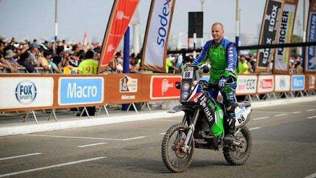 Jan Veselý před startem Rallye Dakar.