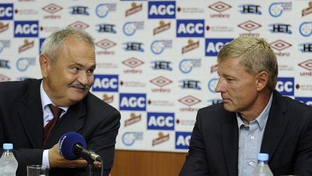 Ředitel Teplic František Hrdlička (vlevo) a trenér Zdeněk Ščasný.