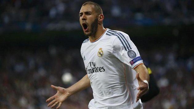 Karim Benzema, šťastný střelec úvodní branky Realu Madrid.