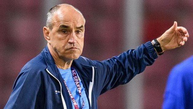 Trenér Sparty Praha Václav Kotal během utkání s Jabloncem.