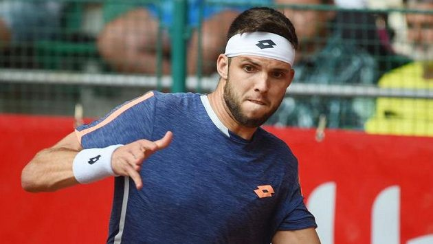 Jiří Veselý na tenisovém challengeru UniCredit Czech Open v Prostějově titul neobhájí.