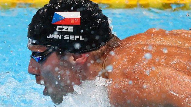 Český plavec Jan Šefl z rozplavby nepostoupil