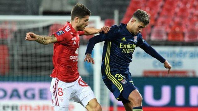 Fotbalisté Lyonu se dostali po výhře nad Brestem do čela