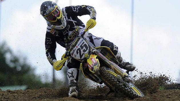 Vvítěz první jízdy kategorie MX1 Clement Desale z Belgie.