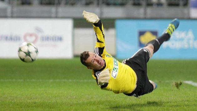 Brankář Jan Laštůvka tým z Karviné podržel.