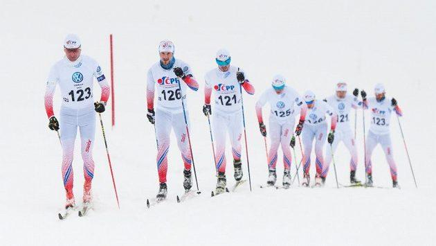 Čeští běžci na lyžích při soustředění na Dachsteinu - ilustrační foto.