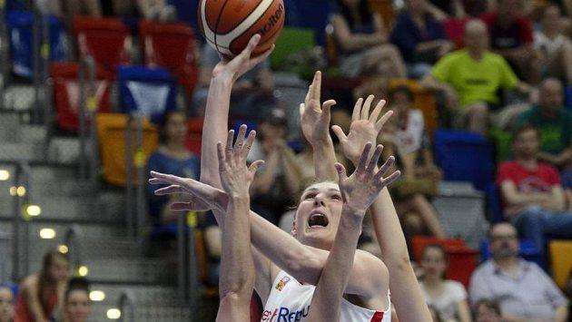 Česká basketbalistka Ilona Burgrová.