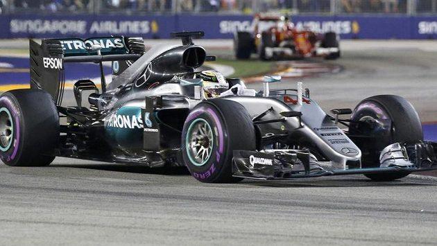 Lewis Hamilton během Velké ceny Singapuru.