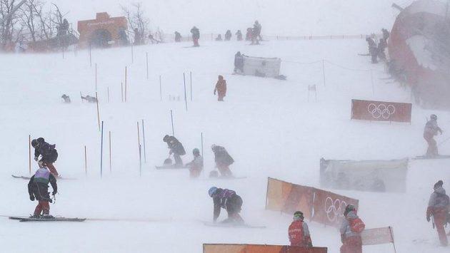Nepříznivé počasí si v Koreji vyžádalo odklad už několika závodů.