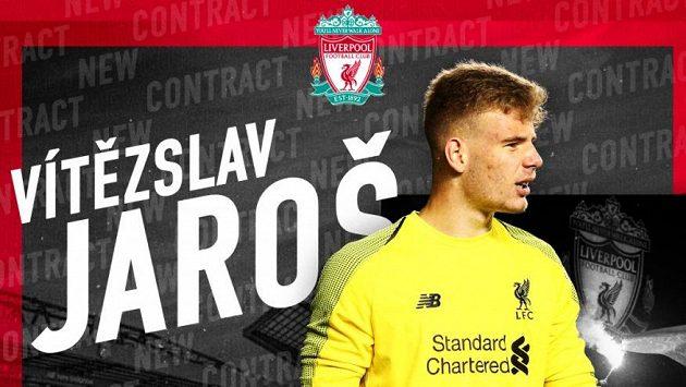 Brankář Vítězslav Jaroš prodloužil smlouvu s Liverpoolem.