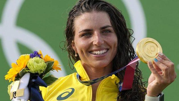 Australská hvězda vodního slalomu Jessica Foxová