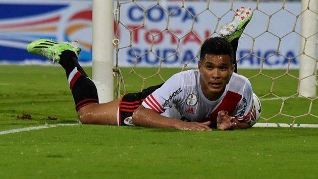 Útočník River Plate Teofilo Gutiérrez.