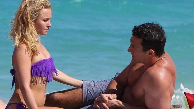 Vladimir Kličko a Hayden Panettiereová na Floridě.