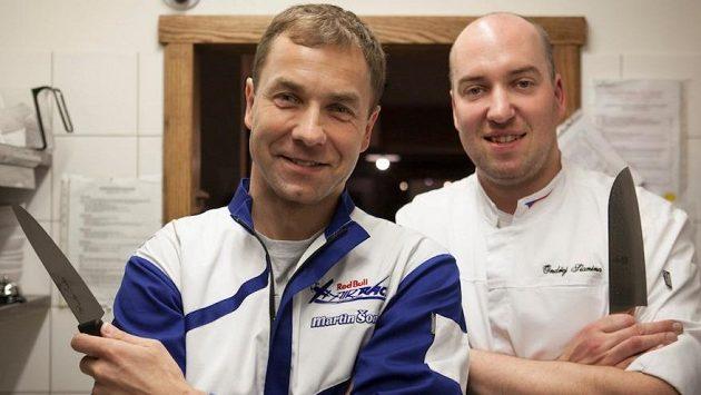 Martin Šonka s kuchařem Ondřejem Slaninou.