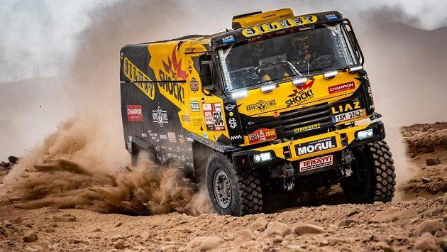 Pilot kamionu Liaz Martin Macík na Rallye Dakar.