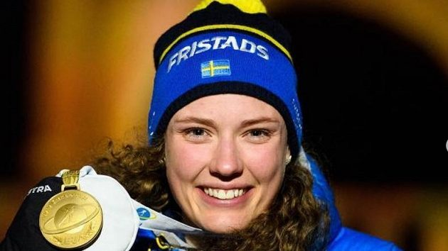 Švédská biatlonistka Hanna Öbergová.