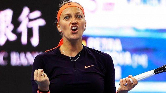 Petra Kvitová má k radosti důvod, v Pekingu už je ve čtvrtfinále.