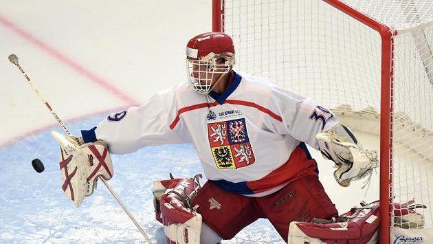 Brankář Dominik Hašek byl měl hrát Ligu hokejových legend.