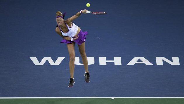 Petra Kvitová vypadla na turnaji ve Wu-chanu už v osmifinále.